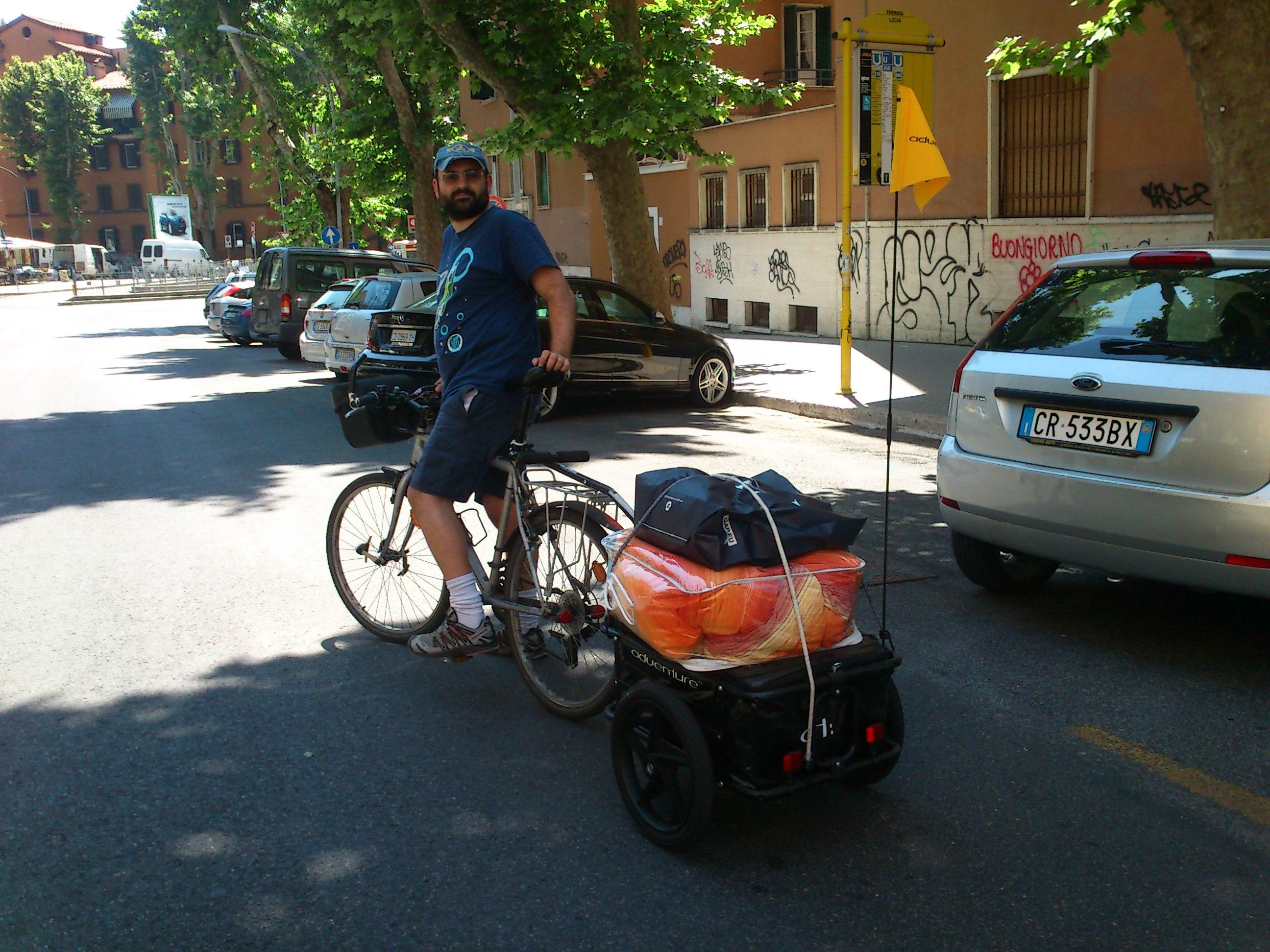ZioPRoTo con bici e carrello
